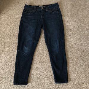 Women's dark skinny jeans